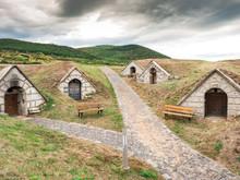 Traditional Wine Cellars In Hercegkut Near Sarospatak Tokaj Region Hungary - Button Hill