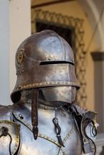 Medieval Knightly Armor (helmet, Breastplate) Close