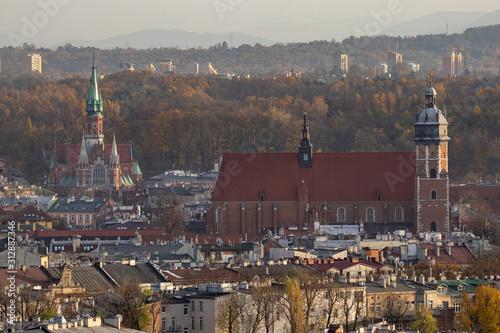 Fototapeta view of krakow poland obraz na płótnie