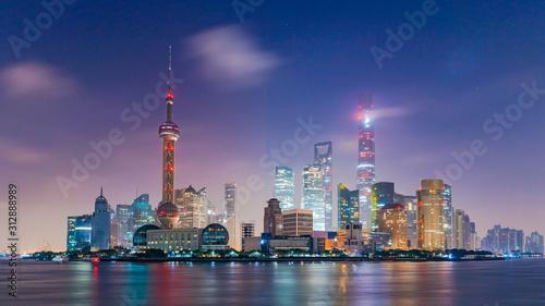 Shanghai skyline and skyscraper, Shanghai modern city in China on the Huangpu River Wallpaper Mural