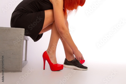 Stampa su Tela sport and heels