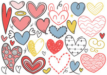 0074 Hand Drawn Scribble Hearts