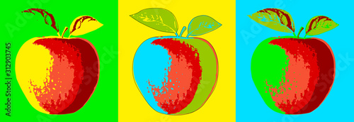 Fruits - PopArt - 2 Wallpaper Mural