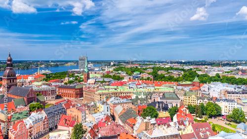Fototapeta View of old Riga, Latvia obraz na płótnie