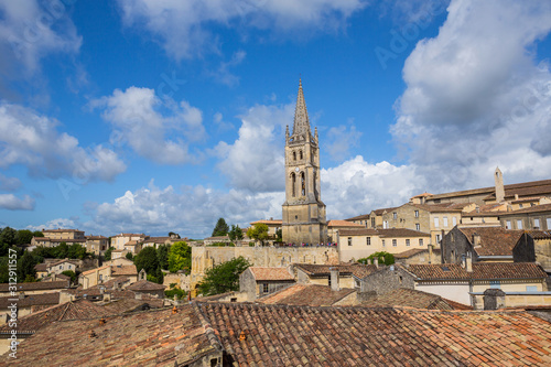 Canvas Print view of saint emilion