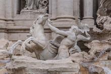Statues At Trevi Fountain (Fon...