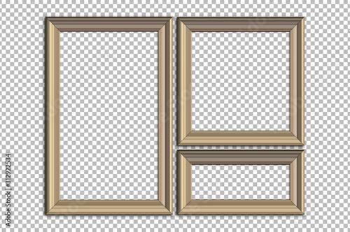 Fotografiet Picture frame idea, inspiration on transparent background