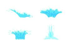 Vector Sea Wave Splash Element