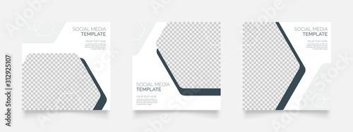 Fotografia  elegant and minimalist social media post template