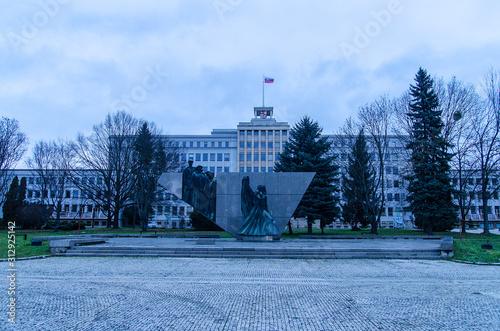 Fototapeta Preszów Słowacja panorama miasta pomnik obraz