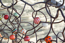 Beautiful Decoration Of Ceramic Bead Embroiled With Iron Wire