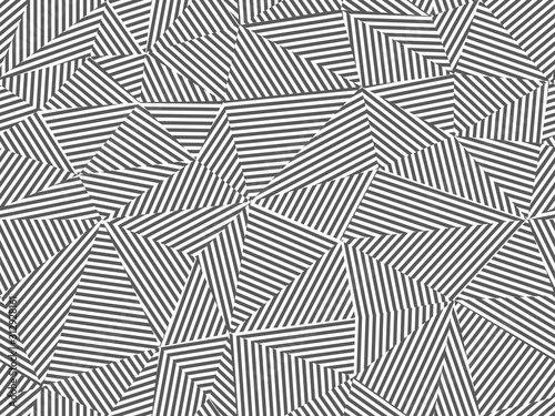 obraz lub plakat Abstract striped seamless background. Black and white design - triangle creative textile endless texture. Fashion polygon repeatable pattern