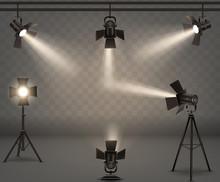 Spotlights Realistic Vector Se...