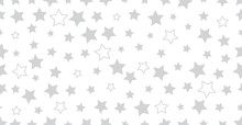 Silver Star Seamless Vector Ba...