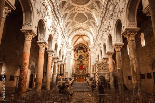 Fototapeta the splendid cathedral of Sessa Aurunca, a Roman city located on the Domitian co