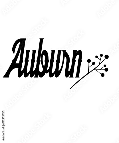 Auburn graphic Wallpaper Mural