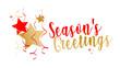 Season's greetings on white background