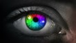Dark Eye. Multicolored and Green. Dark gray skin. 2 in 1. Colored eye blinking. Each video is loopable. More options in my portfolio.
