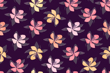 Art Floral Vector Seamless Pat...