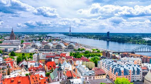 Fototapeta View of old Riga, Latvia