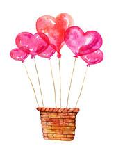 Wodden Basket With Heart Shape...