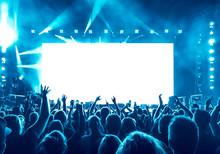 Cheering People At Rock Concert