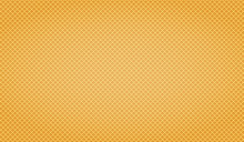 Waffle Yellow Background. Texture Wafer Pattern For Your Design.