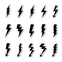 Lightning Bolts Vector Logo Se...