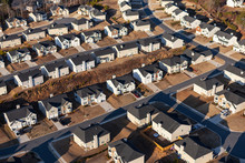 Aerial View New Suburban Homes...