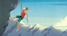 Senior Male Mountain Climber S...