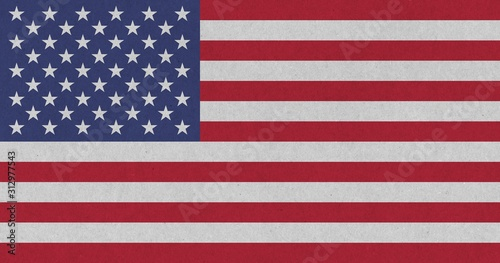 American Flag of United States of America Fototapet