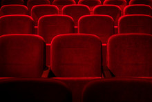 Cinema / Theater Red Seats Background