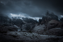 Dark Mountains And Heavy Clouds