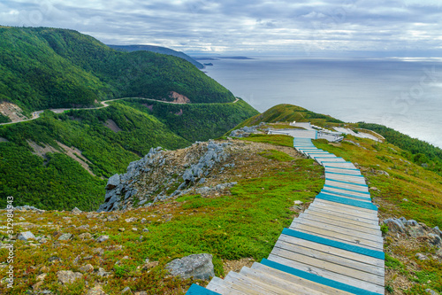 Skyline trail, in Cape Breton Highlands National Park Fototapet