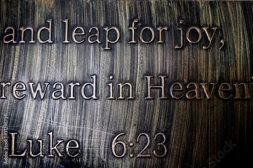 Scripture Quote from New Testament Luke Wallpaper Mural