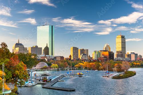 Cuadros en Lienzo Boston, Massachusetts, USA skyline on the Charles River