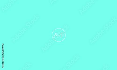 Alphabet letters monogram icon logo AMP Wallpaper Mural