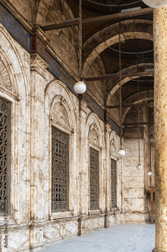 Muhammed Ali Mosque Arches Canvas Print