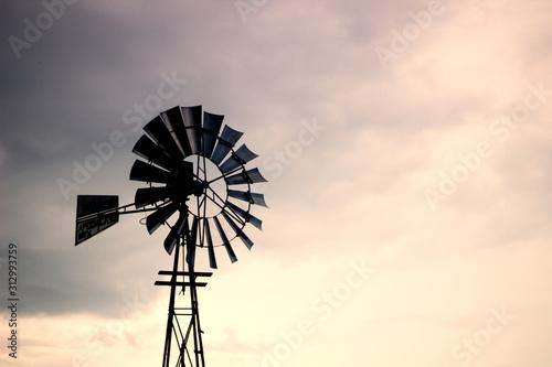 Valokuvatapetti windmill against blue sky