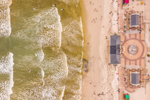 Aerial View Of Muizenberg Beac...