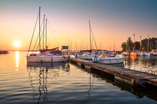 Boats Docking In The Marina At...