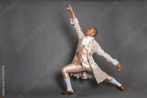 Fotografie, Obraz  Black Male Ballet Dancer in 16th Century Outfit