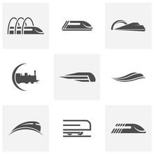 Classic Train Logo Concept, Lo...