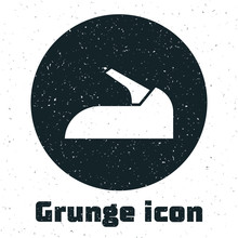 Grunge Car Handbrake Icon Isol...