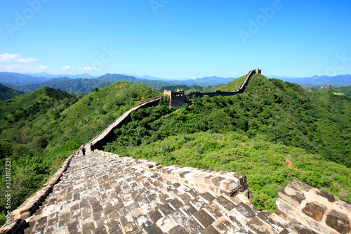 The Great Wall is in China. Wallpaper Mural