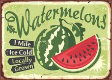 Watermelons Farm Retro Sign Id...