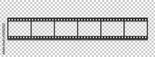 Obraz Six frames of 35 mm film strip. - fototapety do salonu