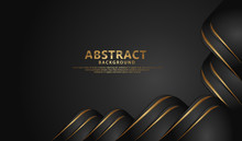 Luxurious Abstract Decoration With Overlap Layer Background