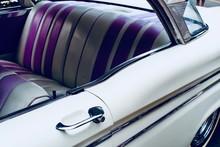 Classic Car Interior, Purple A...