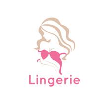 Lingerie Lady Bra Logo Vector Illustration Template